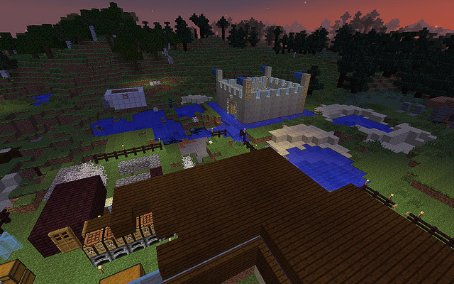 Minecraft 1.13.2 Game to build the open world combined survival 5