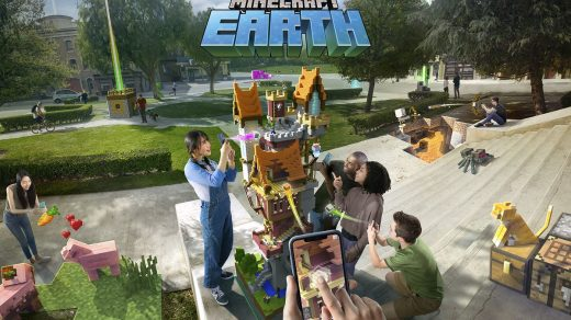 Minecraft Earth for iO - Game Minecraft virtual reality of Mojang 2019